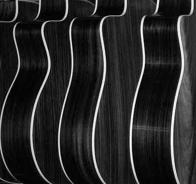 Repetition Photograph - Guitar Patterns Black & White by Bill Gracey