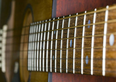Photograph - Guitar String To Bridge by C Ribet