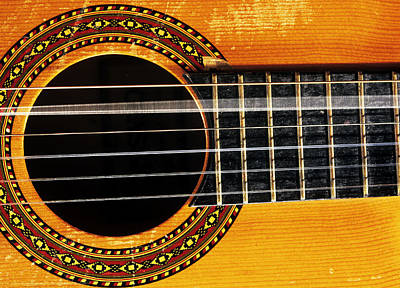 Guitar String Vibrating Art Print