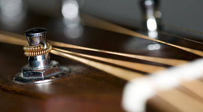 Photograph - Guitar String Windings by C Ribet
