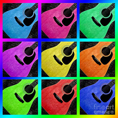 Photograph - Guitar Tic Tac Toe Rainbow by Andee Design