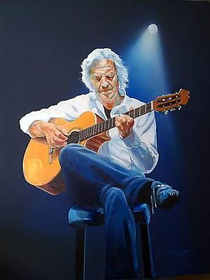 Painting - Guitar by Tim Johnson