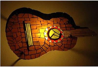Guitarra Art Print by Sonia Ruiz