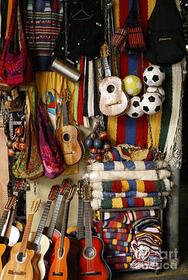 Photograph - Guitars And Handicrafts El Salvador by John  Mitchell