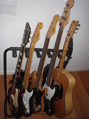 Hofner Photograph - Guitars by Michael Titherington