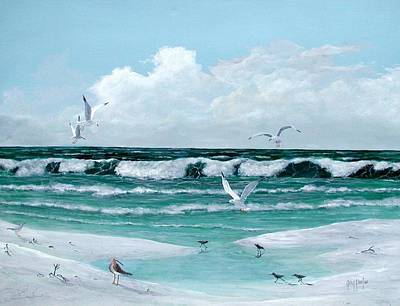 Painting - Gulf Shore Birds by Gary Partin