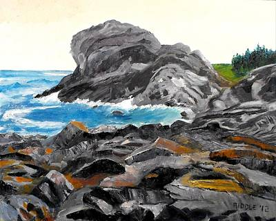 Painting - Gull Rock Monhegan Maine by Jack Riddle
