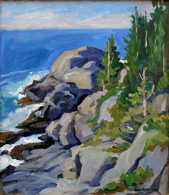 Gull Rock Monhegan Art Print