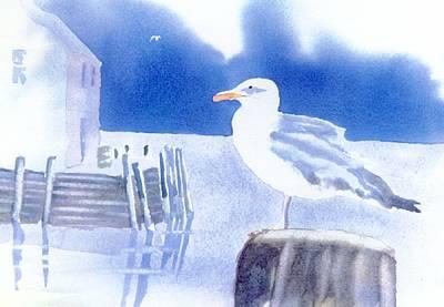 Gull Watch Art Print by Joseph Gallant