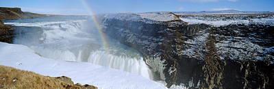 White River Scene Photograph - Gullfoss Falls by Chris Madeley