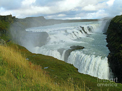 Art Print featuring the photograph Gullfoss Waterfalls  Iceland by Louise Peardon
