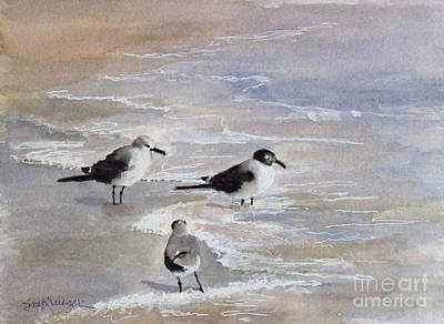 Painting - Gulls On The Beach by Suzanne Krueger