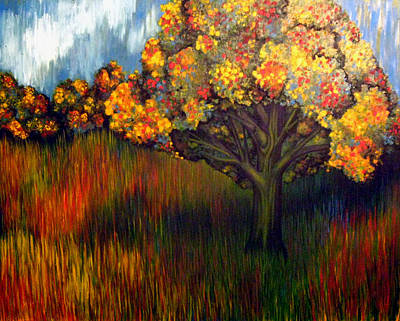 Art Print featuring the painting Gumball Tree 0002 A.k.a. Mud by Monica Furlow