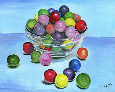 Painting - Gumballs by Richard Jules
