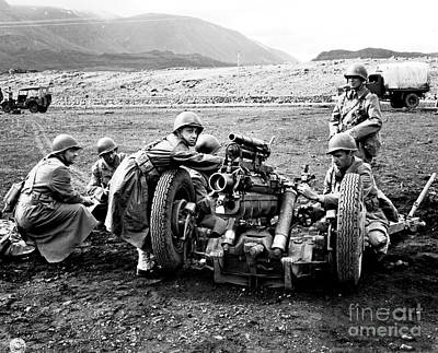 Gun Crew Prepares To Fire A 37mm Print by Stocktrek Images