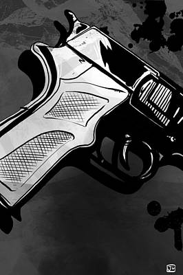 Gun Drawing - Gun Number 1 by Giuseppe Cristiano