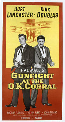 1957 Movies Photograph - Gunfight At The O.k. Corral, Burt by Everett