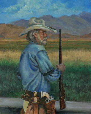 Painting - Guns And Chaps by Linda Eades Blackburn
