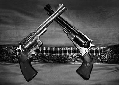 Guns In Black And White Art Print by Kristin Elmquist