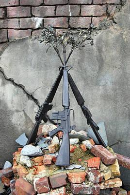 Photograph - Guns Of War - Color by Lora Mercado