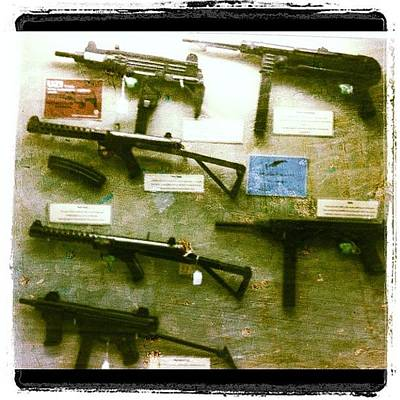 Machine Photograph - #guns #weapons #automatic #machine-gun by Victor Wong