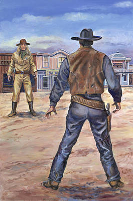 Painting - Gunslingers by Page Holland
