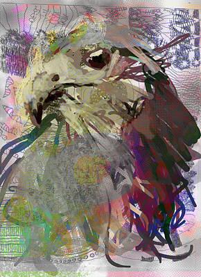 Buzzard Digital Art - Gut Picker by James Thomas