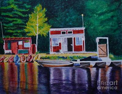 Painting - Gvl Boat House by LJ Newlin
