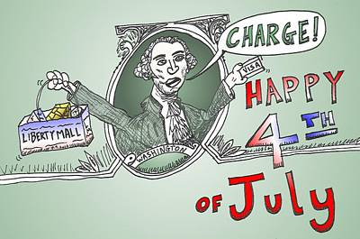 Debt Mixed Media - Gw Charge The 4th Of July by OptionsClick BlogArt