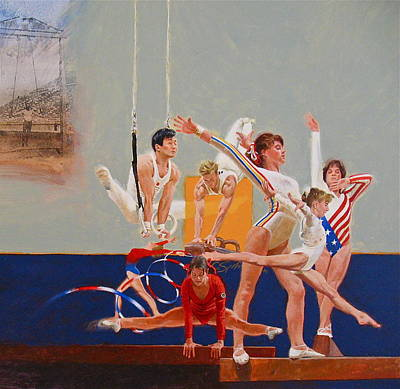 Painting - Gymnastics by Cliff Spohn