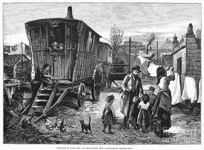 Gypsy Wagon Photograph - Gypsy Encampment, 1879 by Granger