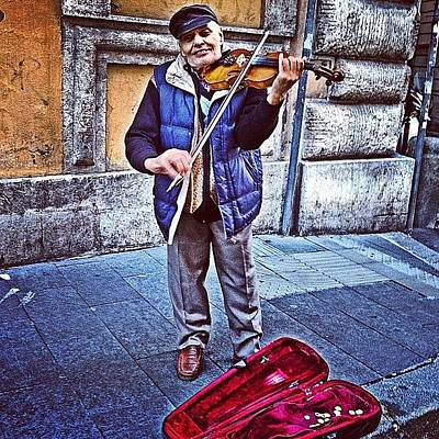 Music Photograph - Gypsy Violin #travel #violin #gypsy by Emily Hames