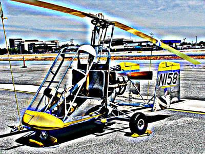 Photograph - Gyrocopter by Samuel Sheats
