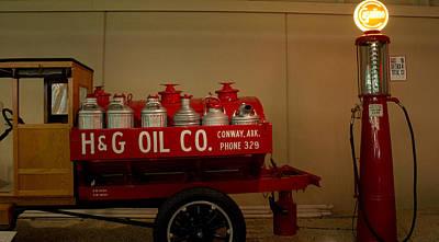 H And G Oil Company Art Print by Douglas Barnett