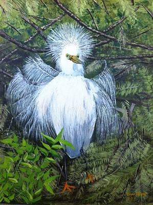 Painting - H. Egret by Jan Fink