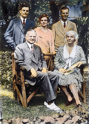 H. Hoover And Family Art Print by Granger