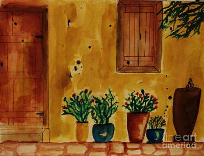Pottery Painting - Hacienda by Marsha Heiken