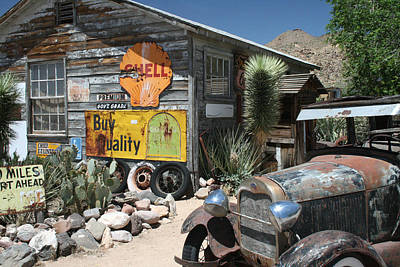 Hackberry Signs   Arizona Route 66 Art Print