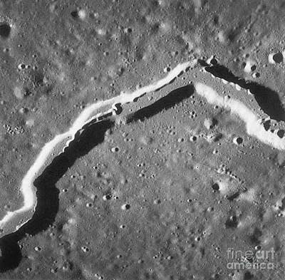 Apollo 15 Photograph - Hadley Rille On The Moon, Apollo 15 by Science Source