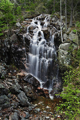Maine Roads Photograph - Hadlock Falls Acadia by Rick Berk