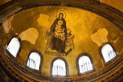 Hagia Sophia Mosaic Art Print by Artur Bogacki