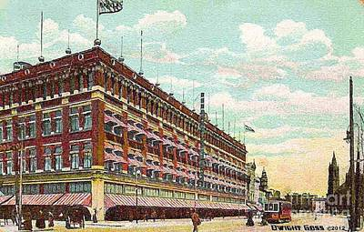 Painting - Hahne's Department Store In Newark N J In 1908 by Dwight Goss