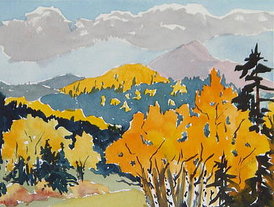 Painting - Hahns Peak From The Backside Hahns Peak Colorado by Zanobia Shalks