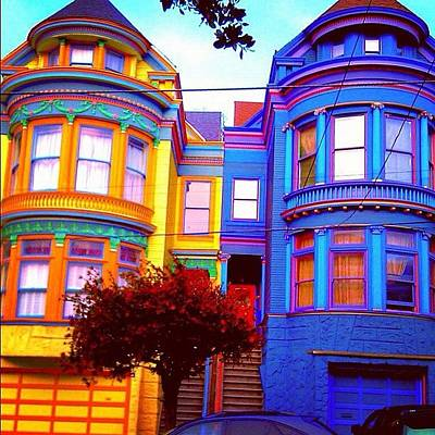 Victorian Wall Art - Photograph - Haight And Ashbury Reminders by Karen Winokan