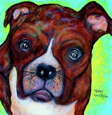 Boxer Mixed Media - Hailey The Boxer by Laura  Grisham