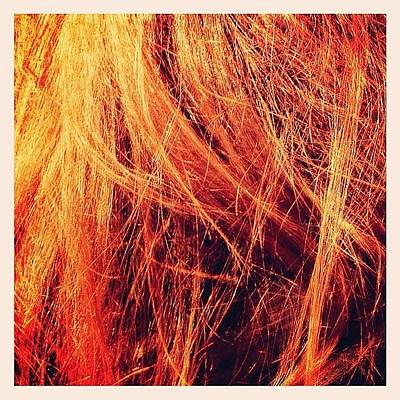Bronze Wall Art - Photograph - #hair #sun #orange #summer #bronze by Vassilis Valimitis
