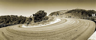 Hairpin On The A9 Original by Jan W Faul