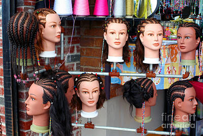 Photograph - Hairstyles On Mannequins by Susan Stevenson