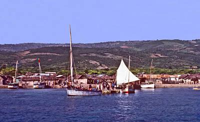 Photograph - Haiti's Gonave Island Sails by Johnny Sandaire
