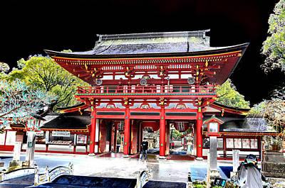 Photograph - Hakata Japan Temple by Allan Rothman